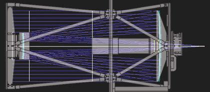 Corrected Dall Kirkham Optical Design Diagram