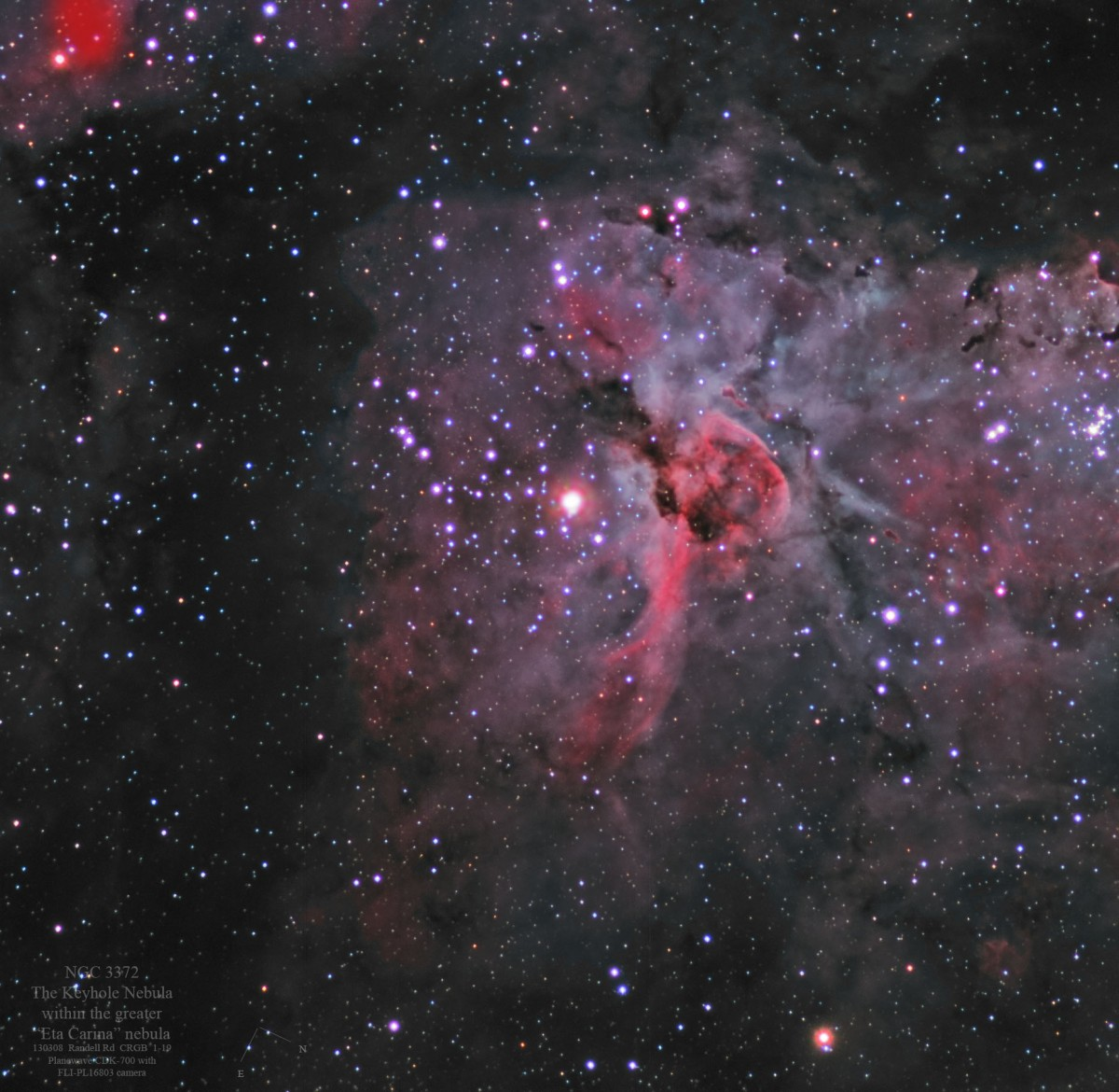 Eta Carina (NGC 3372) - by Colin Eldridge