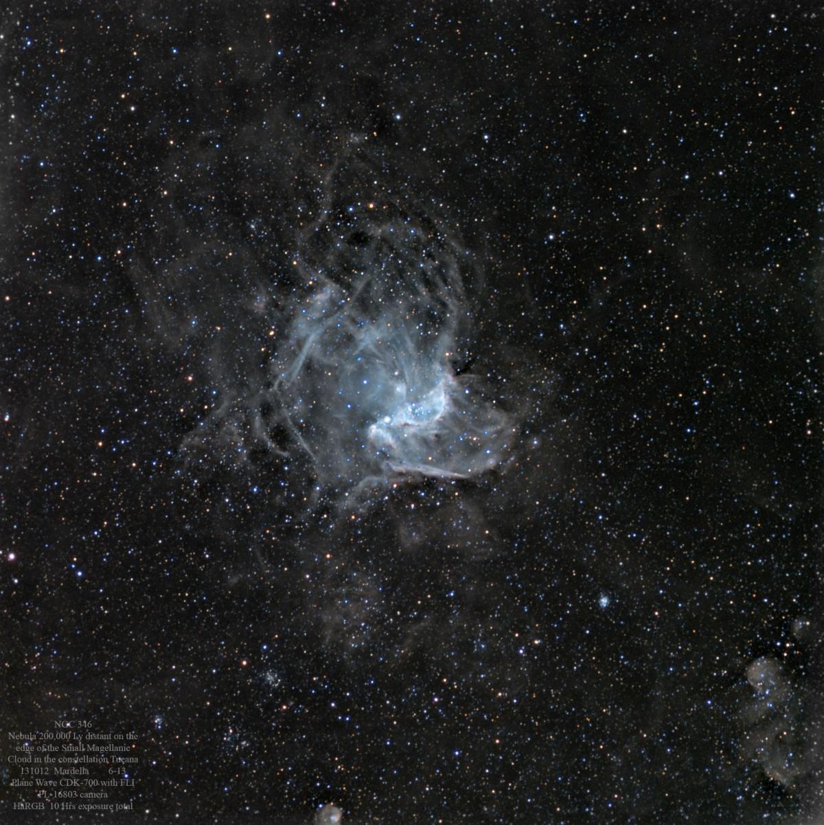NGC 346 131012CDK HaRGB 6-13s