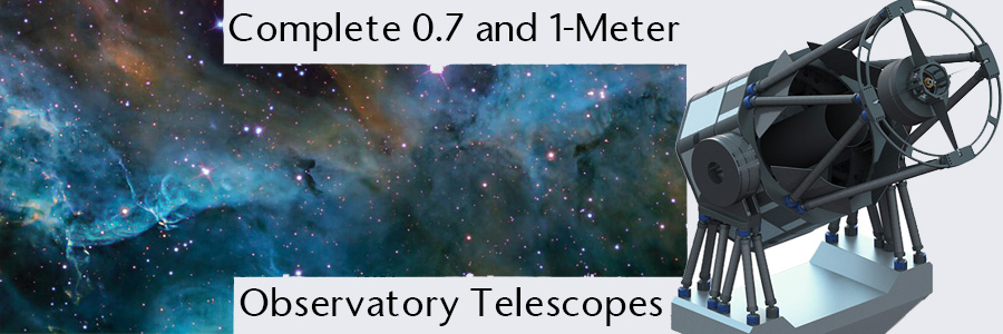 0.7 and 1-meter observatory telescopes