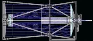 Mechanical Drawing of PlaneWave CDK20 Optical Design